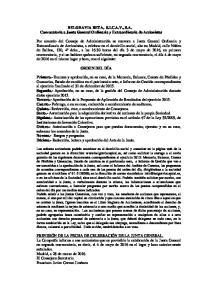 BELGRAVIA BETA, S.I.C.A.V., S.A. Convocatoria a Junta General Ordinaria y Extraordinaria de Accionistas