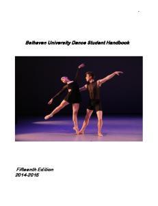 Belhaven University Dance Student Handbook