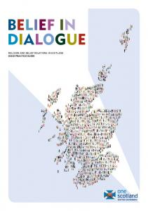 BELIEF IN DIALOGUE RELIGION AND BELIEF RELATIONS IN SCOTLAND GOOD PRACTICE GUIDE