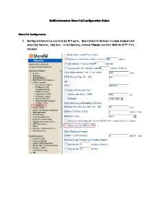 BellCommander ShoreTel Configuration Guide ShoreTel Configuration