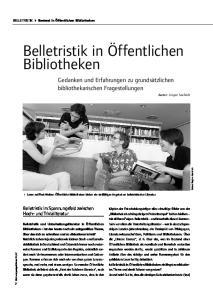 Belletristik in Öffentlichen Bibliotheken