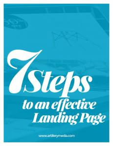 Below are 7 Steps for Building an Effective Landing Page