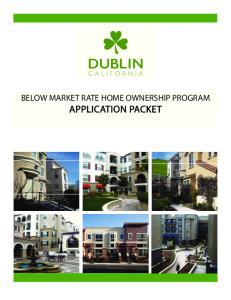 BELOW MARKET RATE HOME OWNERSHIP PROGRAM APPLICATION PACKET