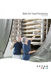 Belts for Food Processing Process Filtration