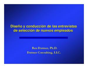 Ben Dattner, Ph.D. Dattner Consulting, LLC