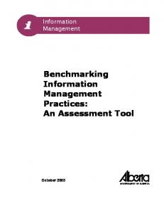 Benchmarking Information Management Practices: