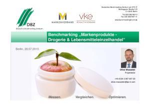 Benchmarking Markenprodukte - Drogerie & Lebensmitteleinzelhandel