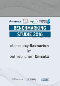 BENCHMARKING STUDIE 2016