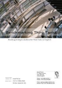 Benchmarking Think Tanks