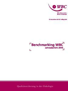 Benchmarking WBC Jahresbericht 2010