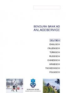 BENDURA BANK AG ANLAGESERVICE