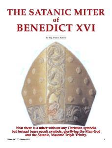 BENEDICT XVI. By Eng. Franco Adessa