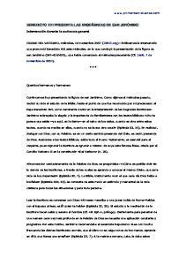 BENEDICTO XVI PRESENTA LAS ENSEÑANZAS DE SAN JERÓNIMO
