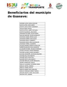 Beneficiarios del municipio de Guasave: