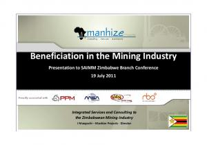 Beneficiation in the Mining Industry