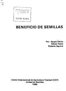 BENEFICIO DE SEMILLAS