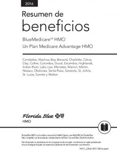 beneficios BlueMedicare SM HMO Un Plan Medicare Advantage HMO