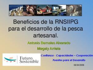 Beneficios de la RNSIIPG para el desarrollo de la pesca artesanal