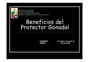 Beneficios del Protector Gonadal