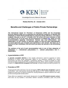 Benefits and Challenges of Public-Private Partnerships