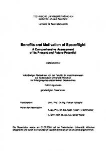 Benefits and Motivation of Spaceflight
