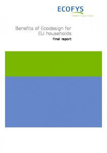 Benefits of Ecodesign for EU households. Final report