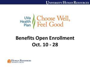 Benefits Open Enrollment Oct