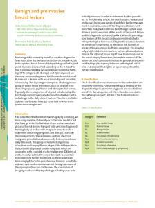 Benign and preinvasive breast lesions