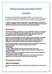 Benign prostatic hyperplasia (BPH) Guideline