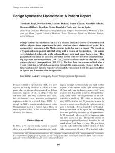 Benign Symmetric Lipomatosis: A Patient Report