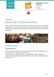 BENIN & TOGO - GEISTER UND AHNEN