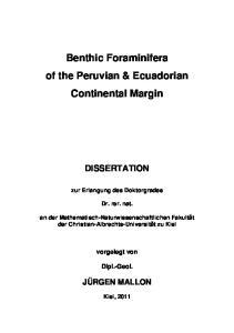 Benthic Foraminifera of the Peruvian & Ecuadorian Continental Margin