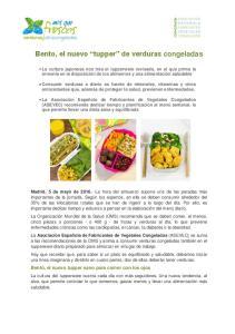 Bento, el nuevo tupper de verduras congeladas