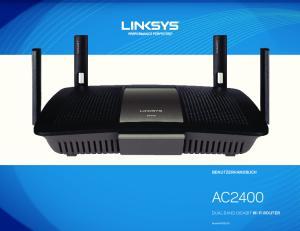 BENUTZERHANDBUCH AC2400. DUAL BAND GIGABIT Wi Fi ROUTER. Model# E8350