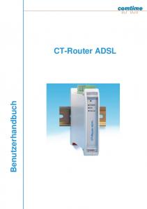 Benutzerhandbuch. CT-Router ADSL