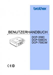 BENUTZERHANDBUCH DCP-330C DCP-540CN DCP-750CW