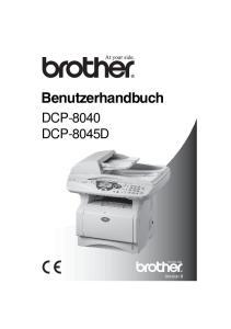 Benutzerhandbuch DCP-8040 DCP-8045D