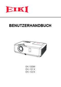 BENUTZERHANDBUCH EK-100W EK-101X EK-102X