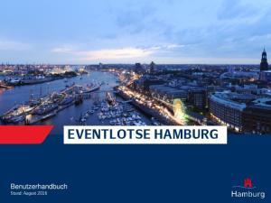 Benutzerhandbuch Stand: August 2016 EVENTLOTSE HAMBURG