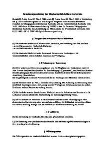 Benutzungsordnung der Hochschulbibliothek Karlsruhe