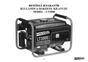BENZİNLİ JENARATÖR KULLANIM ve BAKIM EL KILAVUZU MODEL : LT3500