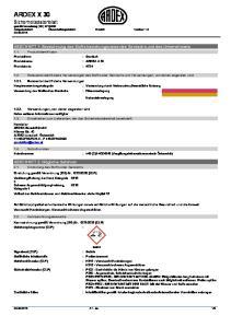 Überarbeitungsdatum: Ersetzt: Version: 1.0. ABSCHNITT 1: Bezeichnung des Stoffs beziehungsweise des Gemischs und des Unternehmens