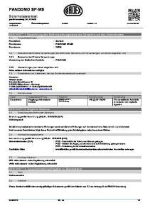 Überarbeitungsdatum: Ersetzt: Version: 1.0  ABSCHNITT 1: Bezeichnung des Stoffs beziehungsweise des Gemischs und des Unternehmens