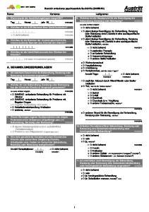 Bereich ambulante psychosoziale Suchthilfe (SAMBAD) VMAB010 VZAX005