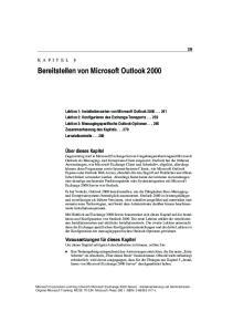 Bereitstellen von Microsoft Outlook 2000