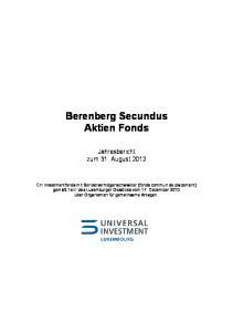 Berenberg Secundus Aktien Fonds