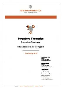 Berenberg Thematics Executive Summary