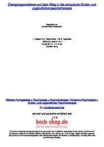 Übergangsprobleme auf dem Weg in die ambulante Kinder-und Jugendlichenpsychotherapie