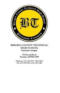 BERGEN COUNTY TECHNICAL HIGH SCHOOL Paramus Campus