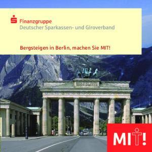 Bergsteigen in Berlin, machen Sie MIT!